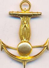 Gendarmerie Maritime, insigne de coiffure, embouti, pattes pliables, Sans (3945)