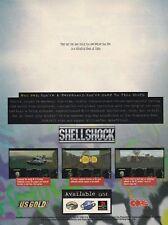 Original 1996 SHELLSHOCK Sega Saturn  PlayStation PS1 video game print ad page