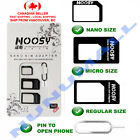 Brand New Nano Sim Card to Micro Sim Card Standard Sim Card Adapter Noosy