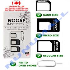 Noosy Nano Sim Card to Micro Sim Card Standard Sim Card Adapter