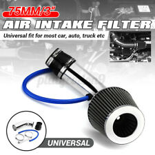 """3"""" Universal Car Cold Air Intake Filter System Aluminum Induction Pipe Hose Kit"""