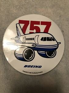 1993 BOEING LOGO 757 JET AIRLINER VINTAGE STICKER, NEW 4 INCHES
