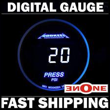 Mookeeh MK1 Fuel Pressure PSI Gauge With Cool Blue Digital Readout