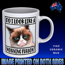Grumpy Morning Funny Cat Lovers Novelty Coffee Mug Cup Gift Idea Office Birthday