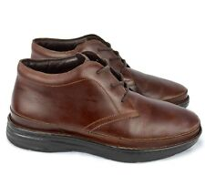 """Drew """"Keith"""" Mens Chukka Boots Brown Leather Lace Up Boots Sz 13 Wide"""