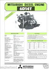 Equipment Brochure Mitsubishi 6d14t Engine Power Unit Farm Industrial E2299