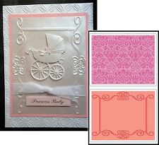 Scroll Frame & Succulent embossing folder set - Sizzix Embossing Folders  657716