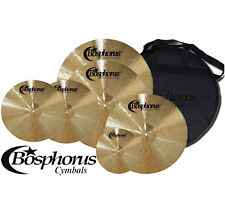 "BOSPHORUS Traditional Serie Becken Set 20""/18""/16""/14"" + 10"" + Cymbal Bag"