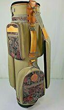 Vintage Wilson COUNTRY CLUB Golf Cart Bag 6-Way Divider Floral