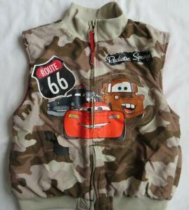 Cars Vest Lightning McQueen Mater Sheriff Brown Camo Zip Disney Pixar Boys 5 6