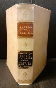 Buffon STORIA NATURALE Parte I volumi 16 17 18 Napoli MINERALI ARGENTO ORO