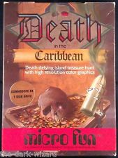Death in the Caribbean C64 CIB Disk - (1983) - Complete in Box