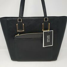 Nine West Addi - Black Faux Leather Large Shoulder Bag - Handbag - NWT