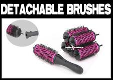 Salon Ceramic Round Hair Brush with Detachable Handle Brush Set Of 6 Changeable
