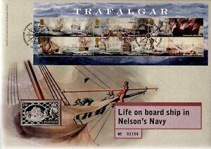 GB 2005 COVER NELSONS NAVY TRAFALGAR WITH SILVER INGOT