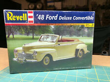 48 Ford Deluxe Convertible Kit New In Sealed Box Revell 1:25 LBR Model Parts