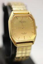 Vintage - Lucien Piccard Dufonte Men's Quartz Rectangular Gold Tone Dress Watch