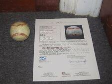 Old Timers Joe DiMaggio E Howard J Mize Autographed Baseball Rare Full JSA lette