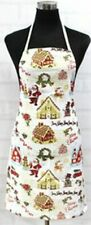 "Printed Fabric Cotton Kitchen Apron (19"" x 30"") WINTER, CHRISTMAS THEME by HC"