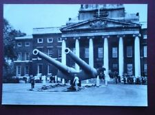 POSTCARD RP LONDON UNVEILING 15 INCH GUNS - IMPERIAL WAR MUSEUM 1968 - RAMILLIES