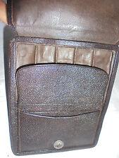 27933 Zigarrenetui Vint cigar box Leder sehr feines Leder leather 16x13cm