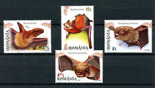 Romania 2016 MNH Bats 4v Set Stamps Wild Animals Pipistrelle Bat Stamps