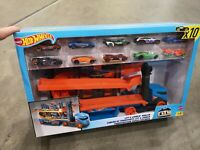 Hot Wheels Stunt & Go Track set With 10 Cars Play Set Mattel SEE VIDEO!!!