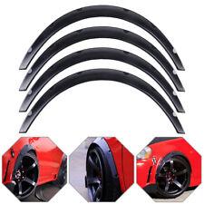 4× Universal Car SUV Tires Fender Flares Flexible Durable Polyurethane Body Kit