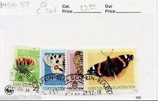 2009 Fürstentum Liechtenstein Sc #1454-57 Θ used Moth - butterfly stamp set