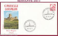 ITALIA FDC ROMA CASTELLO ROCCA MAGGIORE ASSISI PG 1991 ANNULLO TORINO T715