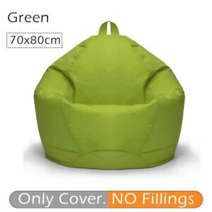 Large Bean Bag Sofas Cover Chairs No Filler Waterproof Seats Lounger Puff Couch