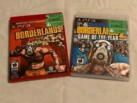 Lot Of 2 Playstation 3 Games : Borderlands & Borderlands 2 : Game Of The Year Ed
