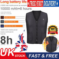Unisex Electric Battery Heated Heating Pad Vest Winter Warm Up Jacket Warmer NEW