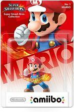 Amiibo Super Smash Bros Series Mario No. 1 Figure New & Sealed