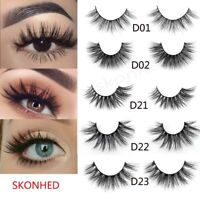 Long Handmade 3D Mink Hair Eye Lashes Extension False Eyelashes Wispy Cross