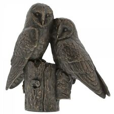 Border Fine Arts Studio Bronze Pair Of Barn Owls
