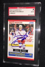 MATS ZUCCARELLO SIGNED 2010/11 SCORE ROOKIE TRADED CARD #610 SGC AUTHENTICATED