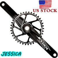US 170 Crankset MTB Bike Crank GXP 32-38T Narrow Wide Chainring Chainwheel CNC