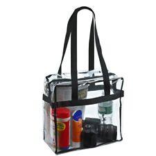 Women Men Clear Tote Bags PVC Handbag Shoulder Bag Transparent Beach Storage