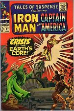 "TALES OF SUSPENSE #87-1967-IRON MAN & CAPTAIN AMERICA-""CRISIS AT THE EARTHS CORE"