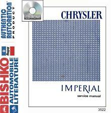 1966 Chrysler Imperial Service Repair Manual Engine Drivetrain Electrical