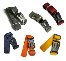 Compression Luggage Strap 65 cm - 100 cm Quick Release Buckle 20mm - 5 colours