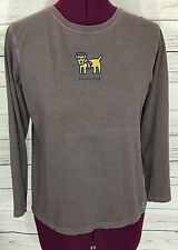 Girls Life Is Good Brown Chilly Dog Long Sleeve Shirt Size L (12)