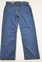 Women's Gap 1969 crop jeans size 24r denim blue straight five pockets cotton