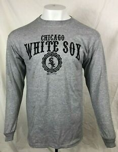 CHICAGO WHITE SOX LONG SLEEVE GRAY T-SHIRT BY STITCHES MEN'S M L XL FREE SHIP