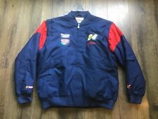 NWOT Jeff Gordon NASCAR Puffer Jacket DuPont NASCAR 2000 Blue Red Men's XL 1990s