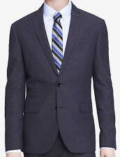New EXPRESS Slim Photographer Linen Navy Suit Jacket Blazer, nwt, 42R, $200 LAST