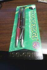Dixon Ticonderoga Mechanical Pencil 2 Piece Set W/ Iso-Grip 0.9mm Red Black NEW
