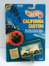 Hot Wheels MOC Vintage California Custom  White Cobra  w/ RR Tires 1989