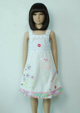 New Girls Cotton Party Dress in Hot Pink,Red,Green,White,Blue from 9M to 3 Years